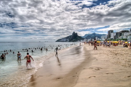 Frolicking on Ipanema Beach
