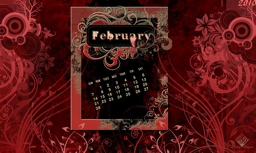 February Desktop Wallpaper Calendar