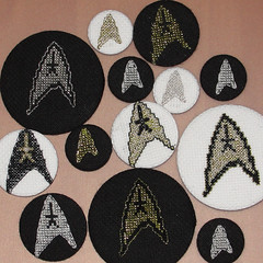 allstlogo (anonymityblaize) Tags: startrek crossstitch geek badge button gqmf