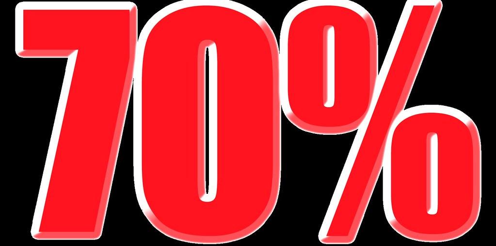 imagenes de 70% para carteles de rebajas