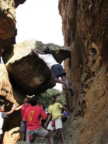Badami Rock Climbing Bouldering Crazy Dyno