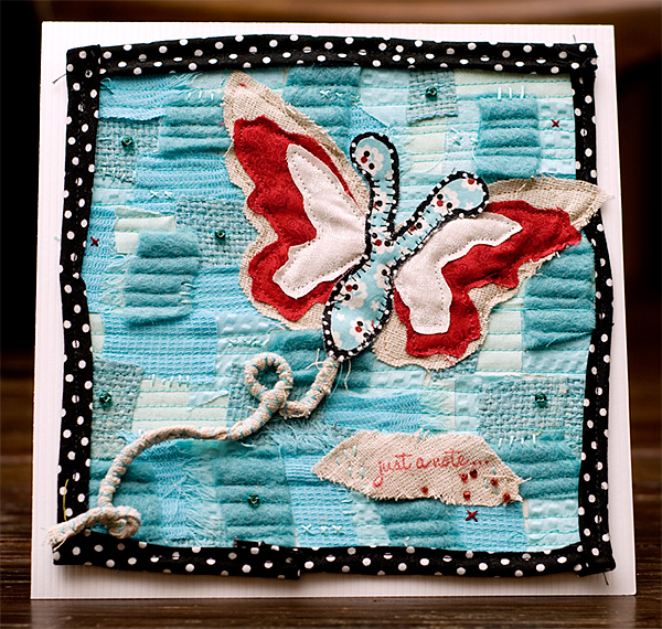 butterfly quilted card for blog