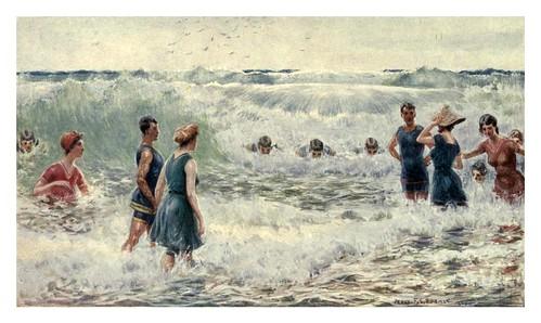 016-Un baño en el mar con fuerte oleaje-Australia (1910)-Percy F. Spence