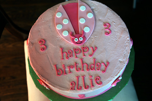 Allie's ladybug cake