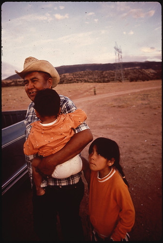 Navaho Father and Children