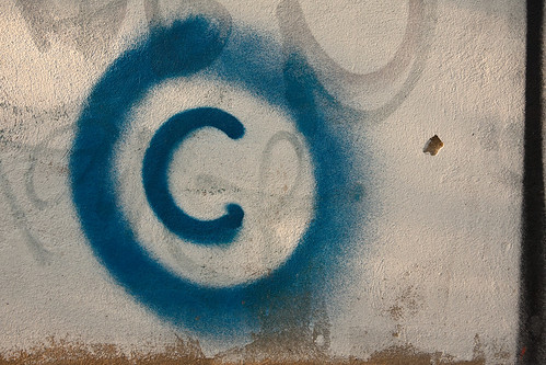Large copyright graffiti sign on cream c by Horia Varlan, on Flickr