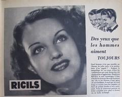 Publicité Ricils, Marie-Claire n°30, 24 septembre 1937, page 5