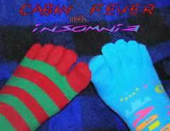 Cabin Fever (Mona Loldwoman (Look for the good)) Tags: winter cabinfever toesocks alittlecrazy amomentarylapseofreason mixedpairsoftoesocks winterwearwithflipflops