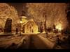 Winter night (Kaj Bjurman) Tags: winter red night eos golden sweden stockholm cemetary 5d hdr solna kaj mkii markii cs4 photomatix bjurman