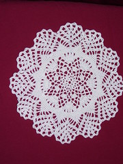 Winter's First Snow doily