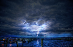 The Perfect Storm (lyon photography) Tags: sea usa seascape storm weather clouds danger america boats virginia fishing force unitedstates wind extreme rope va mooring incoming change bigsky lightning pressure reflexions thunder hdr rolling channel sudden choppy prevailing boatds chincoteaque artofimages bestcapturesaoi elitegalleryaoi