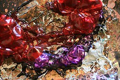 IMG_6383 (timington) Tags: red white abstract macro experimental purple plastic burnt heat copper trippy psychedelic melted
