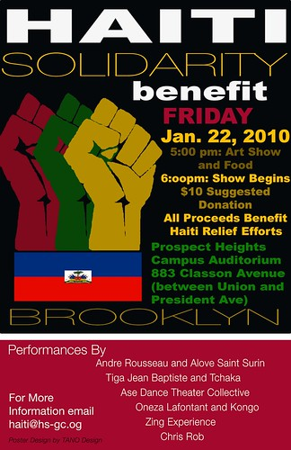 Haiti Solidarity Benefit January 22