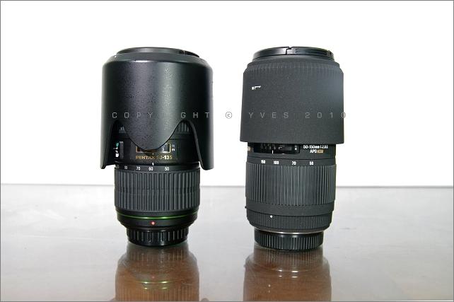 DA☆50-135mm F2.8 PK SIGMA 50-150mm F2.8 II HSM(I)外觀性能比較
