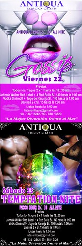 Temptation Nite - Antiqua Disco Club