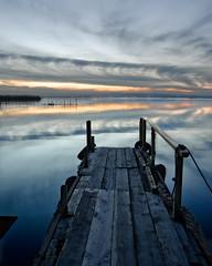 Embarcadero (Garvm) Tags: sunset espaa lake water valencia lago still spain agua puestadesol albufera elpalmar