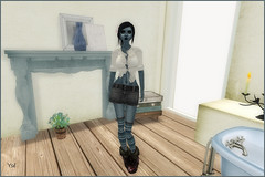 Fashion blue addict (Ys Ah) Tags: secondlife bounce freebies maitreya fashionsladdict