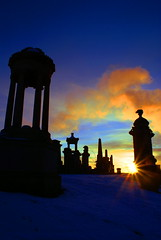 dawning on necropolis (macgruff .. on / off !! V/Busy) Tags: cemetry sky sun snow clouds skyscape dawn scotland graveyards glasgow sunburst snowing dawning monuments perelachaise gravestones cloudscape necropolis cemetries cityofthedead glasgownecropolis scottishcities scottishcemetries