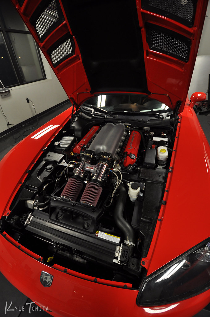 Under the hood of 2008 Dodge Viper SRT-10