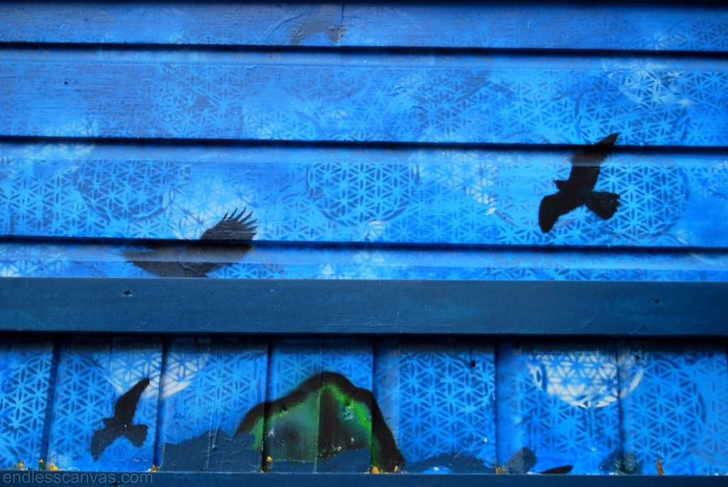 Bird Stencils San Francisco Street Art.