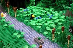 EastwoodRavine_06 (SavaTheAggie) Tags: trestle bridge trees camp train river wooden stream texas lego display steel group trains scout valley marshmallows ravine lumber module users roasted creosote truss texlug