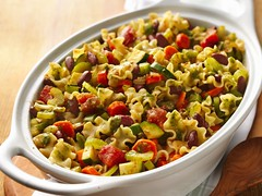 Minestrone Casserole (Betty Crocker Recipes) Tags: food dinner recipe vegetable casserole delicious squash noodles carrots onion zucchini pesto celery bettycrocker bakedpasta minestrone redbeans greenbellpepper parmesancheese cassaroll bettycrockerrecipes pastawithvegetables minilasagna bettycrockerpasta