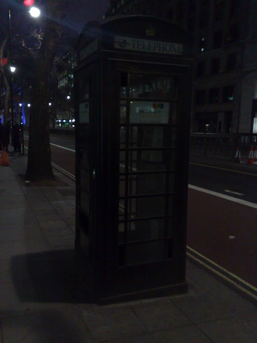 Black London phone box