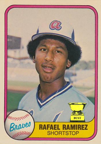 Baseball Card Bust Rafael Ramirez 1981 Fleer