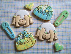 Peek-a-Boo Cookies (Brenda's Cakes - Ohio) Tags: sugarcookies decoratedcookies babyshowercookies babycookies