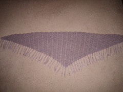 Triangular Mohair Shawl