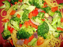 Broccoli Ginger Stir-Fry Over Corn-Quinoa Pasta Recipe