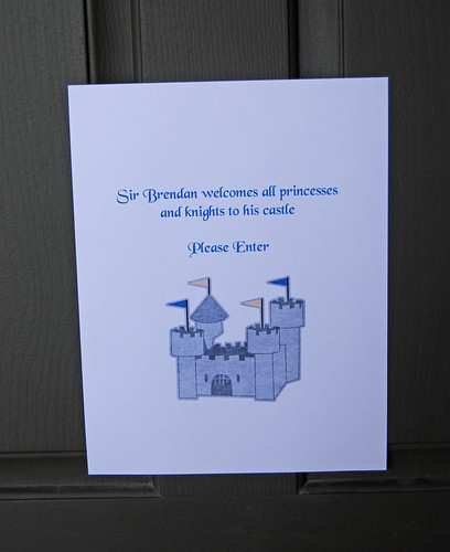 Knight Birthday party welcome sign