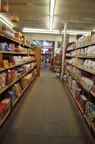 Grocery Aisle at Gillinghams in Vermont