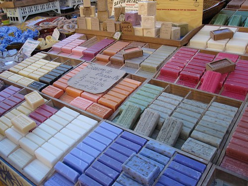 handmade soaps at the outdoor market