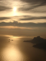 Caminho (El Garcia) Tags: sunset sea sky sun riodejaneiro golden gavea mywinners flickrestrellas