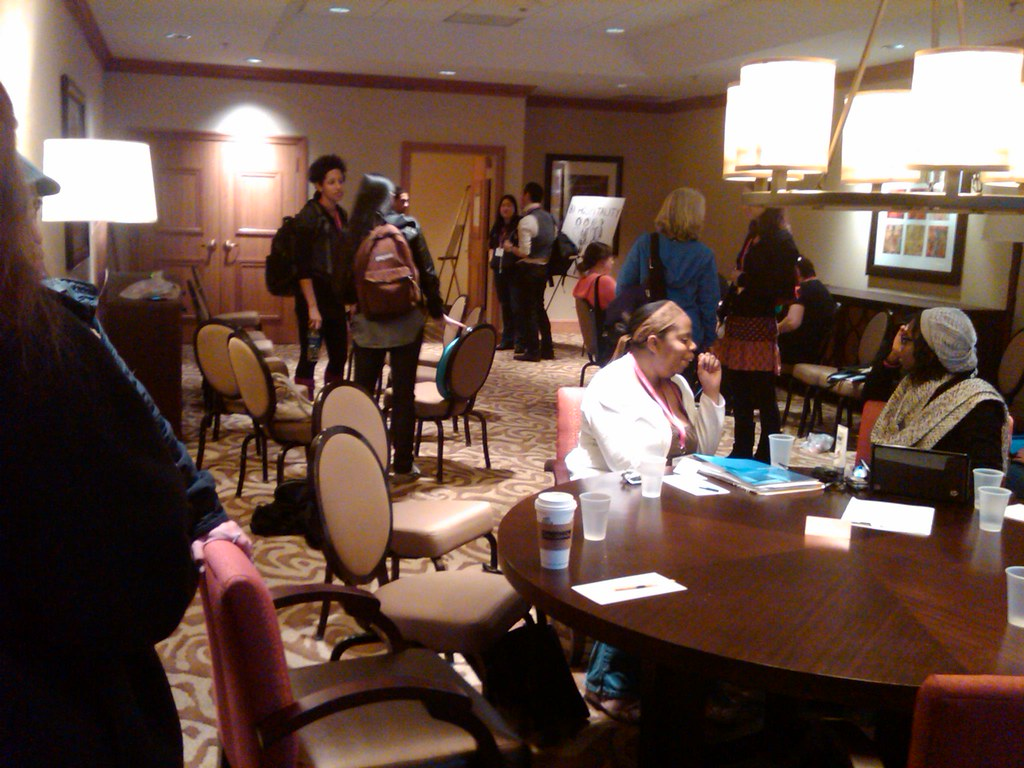Bisexual, Fluid, Pansexual and Queer-identified hospitality Suite at Creating Change in Dallas TX 2010