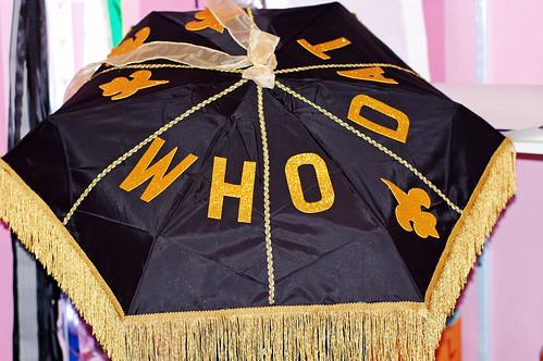 Who Dat Saints Second Line Umbrella