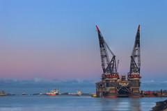 Thialf HNY (Reografie) Tags: ship harbour crane offshore vessel panama rozenburg thialf heerema cranevessel portofrotterdam oilrigg calandkanaal nibbie reografie