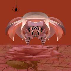 Little Miss Muffit......... (freetoglow (Gloria)) Tags: pink photoshop fractal visualart hypothetical realty photooshop incendia exploreworthy wowiekazowie eyecandyart photoartwork krazeekool awardtree colourmania digitalarttaiwan
