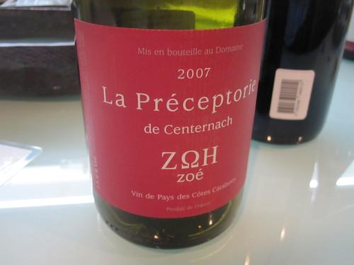 La préceptorie de Centernach Zoé 2007