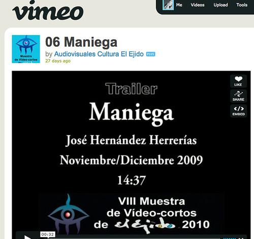 Maniega - Corto de Jose Hernández Herrerías - rodado entre Abla y El Ejido