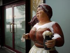 lets get legless (johnpaddler) Tags: sculpture oslo norway guinness amputee barmaid legless dumdumboys p235 cuemusic splitterpine