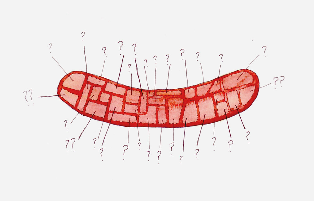 hot dog mystery - artwork by drywell available on Etsy