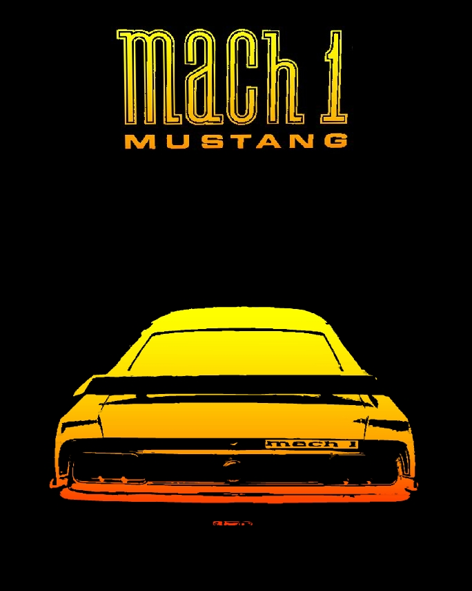 imagen coche clasico Ford Mustang Mach 1
