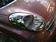 Gorgeous Micra headlights! (Suzieboots) Tags: pink car nissan elvis micra firstcar belgianchocolate citycollection londonrose