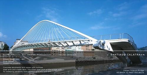 Pasarela Zubi-Zuri de Santiago Calatrava - (c) http://calatrava.com