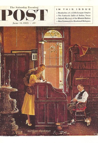 Art - Norman Rockwell, The Marriage License
