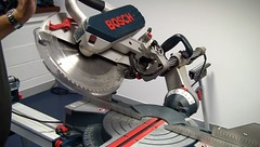 Bosch GCM 12SD Circular Saw in Action