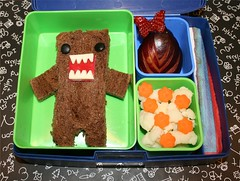 Domo Bento (Tami_Moore) Tags: strawberry plum sandwich domo cauliflower bento carrots laptoplunches