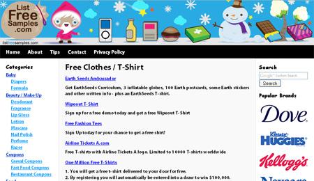 Free tshirts